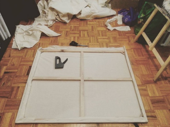 make your own canvas frame