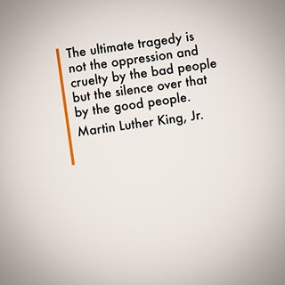 silence martin luther king