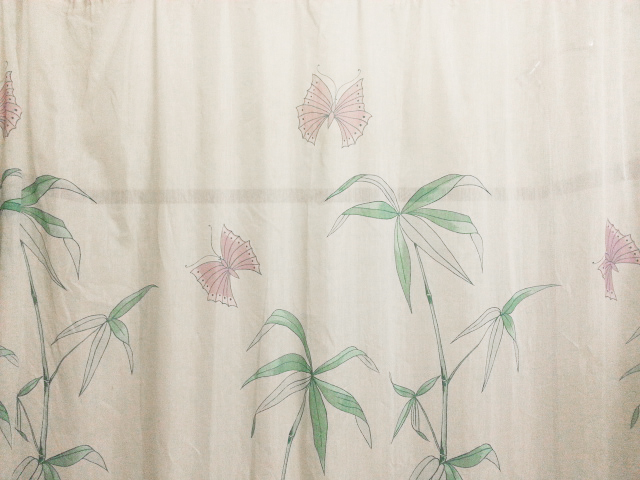 zero waste shower curtain