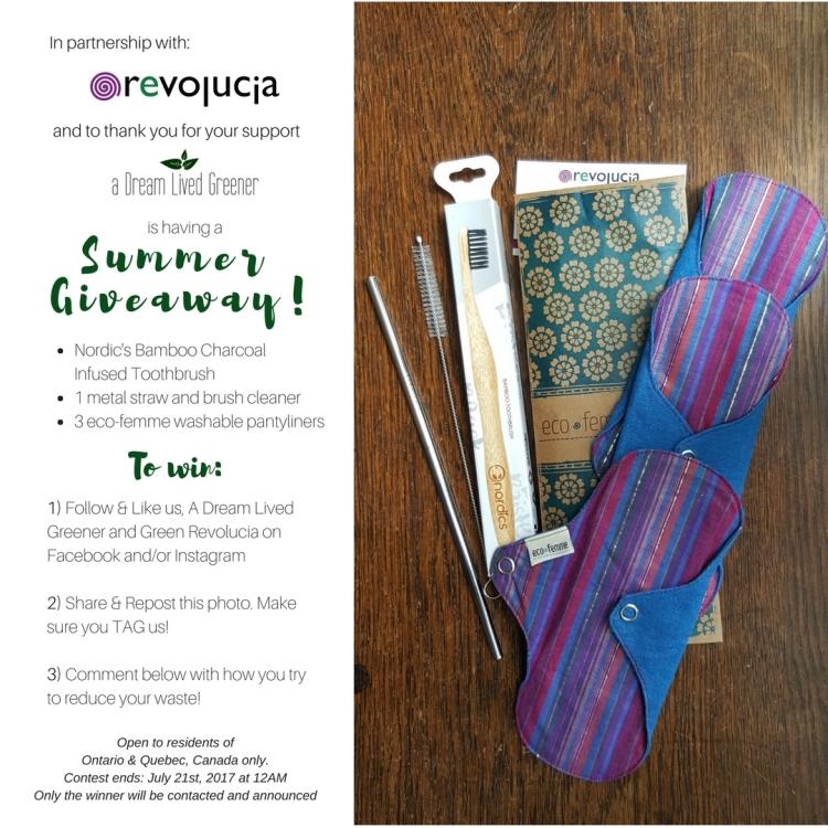 zero waste summer giveaway ottawa-green revolucia-a dream lived greener-zero waste online store