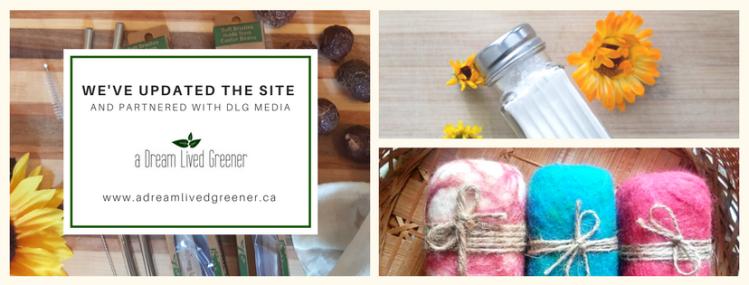 a dream lived greener banner facebook website zero waste online ottawa store canada