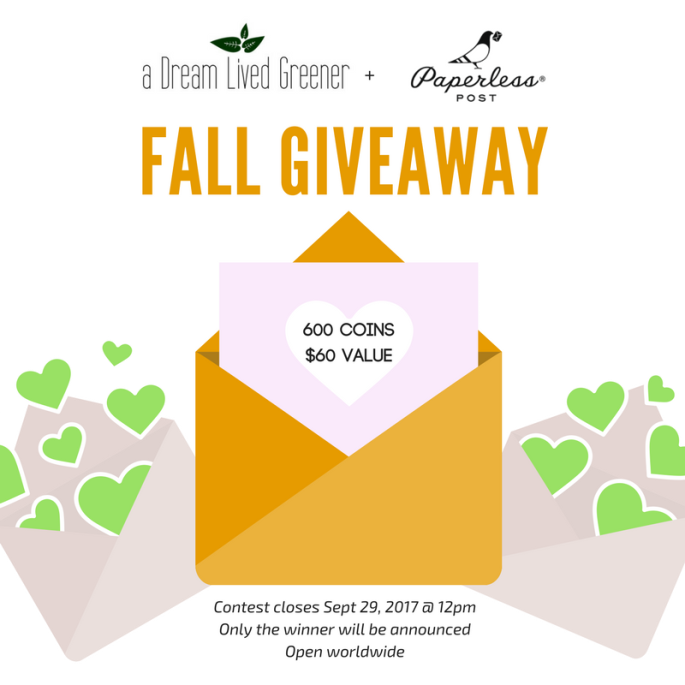 a dream lived greener fall giveaway paperless post (2)